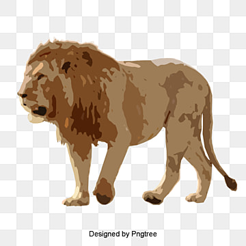 hand painted black lion, Lion Clipart, Hand Painted, Lion PNG and PSD