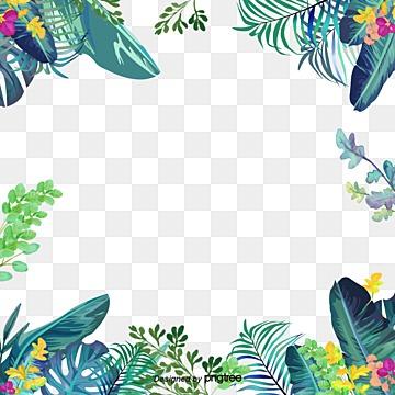 Green summer small fresh border Free PNG and PSD
