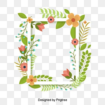 Green summer plant vector border, Frame, Vector, Summer PNG and Vector
