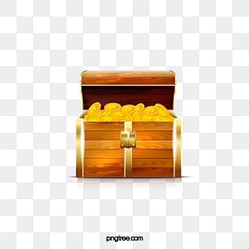 Cartoon Treasure Chest Clipart PNG Image And