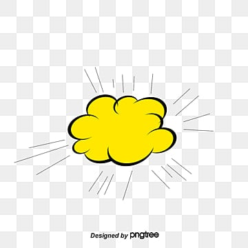 Yellow Comic Explosion Stickers Vector Material Effect Explosive PNG And