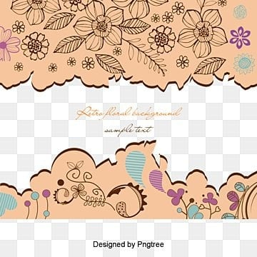 Hand painted pattern vector, Heart-shaped, Leaf, Line PNG and Vector
