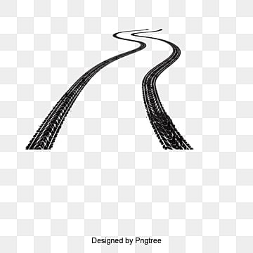 Car driving track, Vector Material, Tire Mark, Rut Prints PNG and Vector