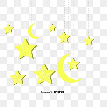 Vector format of the moon and stars