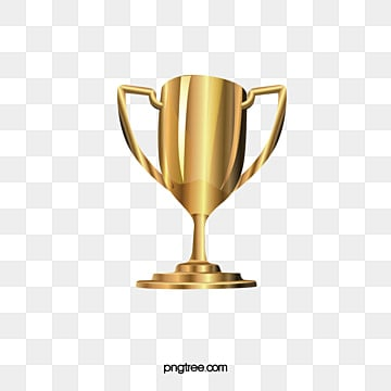 Gold Glittering Trophy Vector Material Champion PNG And