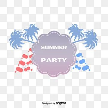 Summer beach party, Vector De Material, Festa De Verão, A Festa Na PraiaPNG e Vector