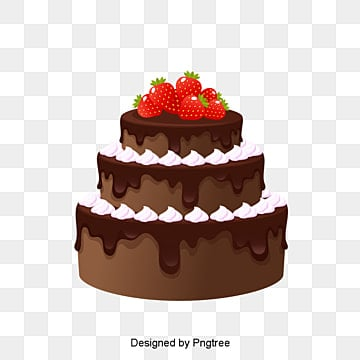 sweet chocolate birthday cake, Cake Clipart, Vector Png, Pink Cake PNG Image and Clipart
