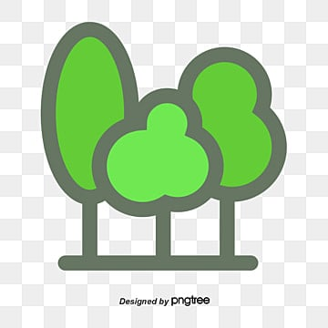 Cartoon Pine Material Green PNG And Vector