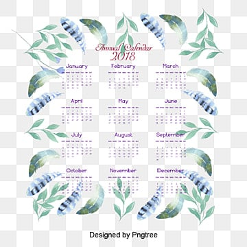 watercolor hand painted  flower calendar, Vector Png, Watercolor Calendar, Watercolor Calendar Template PNG and PSD