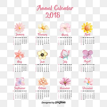 small calendar template 2018