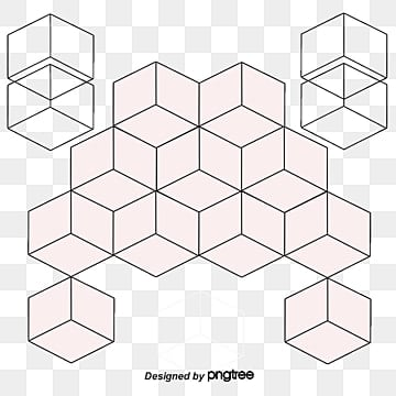 vector fashion simple white cubes combined background, Fashion Vector, Cube, Three-dimensional Square PNG and Vector