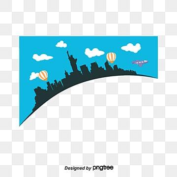 обучение за границей мультфильм вектор, иллюстрация, за границей образование, голубое небоPNG и вектор