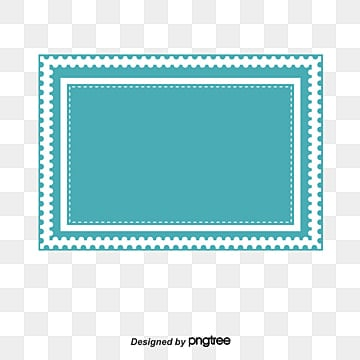 Blue Stamp Border Vector PNG And