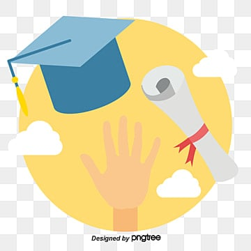 throw the master cap and certificate in the sky, Cartoon, Flat, Bachelor Cap PNG and Vector