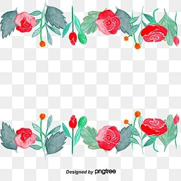 Borde De Flores Imagenes Png Vectores Y Archivos Psd Descarga