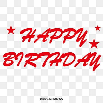 Happy Birthday Word Exquisite Art Personality PNG And Vector