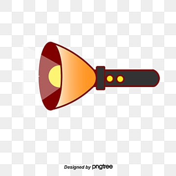 Flashlight And Beam Vector PNG