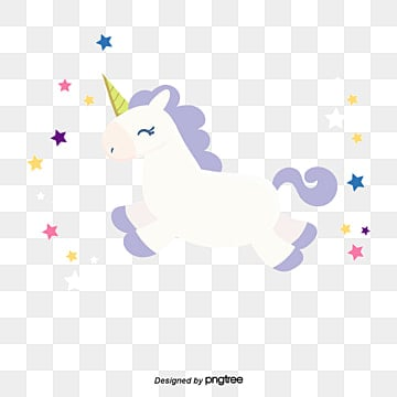 happy jumping white unicorn, Unicorn Clipart, Vector Png, Unicorn PNG and Vector