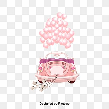 Romantic wedding car, Balloon, Romantic, Love PNG and Vector
