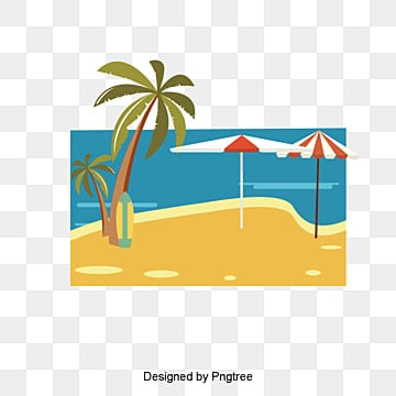 Summer resort beach landscape vector