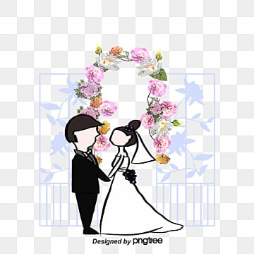 Romantic new person, Marry, Flower, Arch PNG and Vector