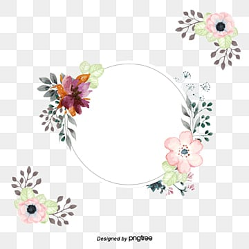 A pink border of water, Vector Png, Watercolor Plants, Hand-painted Plants PNG and Vector