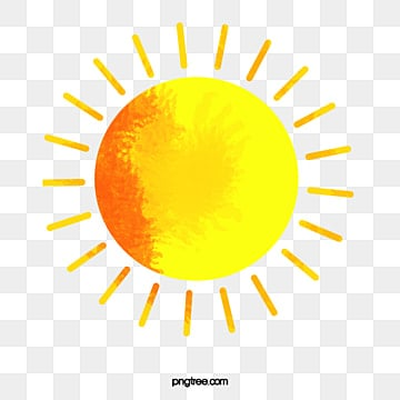 cartoon hand-painted summer sun, Watercolor, Summer, Decorative Pattern PNG and Vector