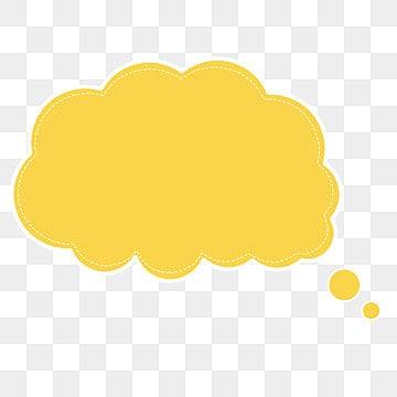 Vector amarillo caja de dialogo nube burbuja, Amarillo, Flaky Nubes, Burbuja De Dialogo PNG y Vector
