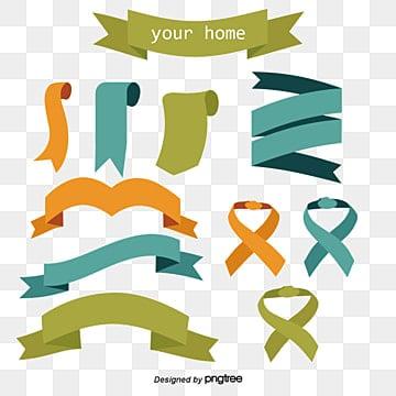 Cartoon ribbon vector, Cartoon Hand Drawing, Vector Diagram, Decorative Pattern PNG and Vector