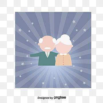 挙手のおじいさんとおばあさん, おじいさんとおばあさん, 祖父祖母, 古い二口 PNGとベクトル