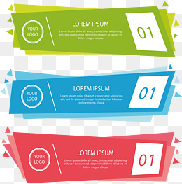 Color geometric banners, Vector Png, Banner, Propaganda Banners PNG and Vector