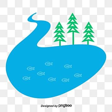 озеро гофрированные мультфильм, речной клипарт, водный вектор, мультфильм озеро воды PNG и PSD