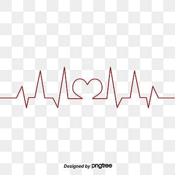 Heartbeat line, Public Welfare, Red Love, Heartbeat Line PNG and Vector
