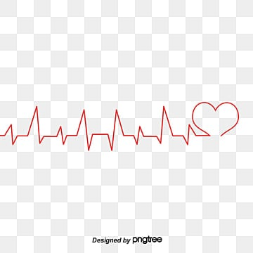 Public welfare heartbeat line, Public Welfare, Red Love, Electrocardiogram PNG and Vector
