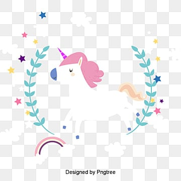 The unicorn under the rainbow, Vector Png, Unicorn, White Unicorn PNG and Vector