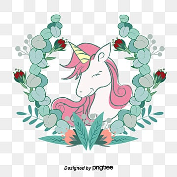 Pink hair Unicorn, Vector Png, Unicorn, The Sleeping Unicorn PNG and Vector