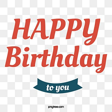 Happy Birthday In Red English Vector Clipart Png PNG