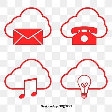 cloud service security vector diagram flaky clouds