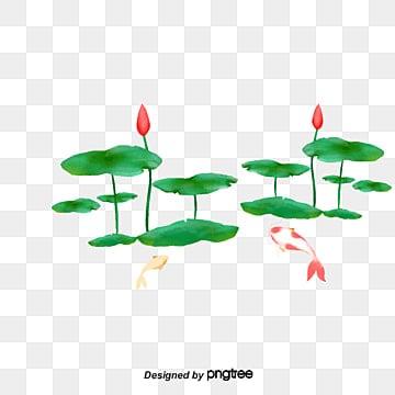 รูปแบบการตกแต่งมือวาดดอกไม้ในช่วงฤดูร้อน  ดอกบัว  ลมจีน PNG และ PSD