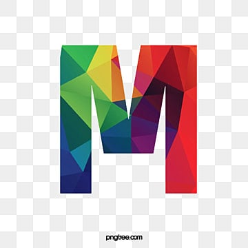 Colorful Letters M Letter PNG Image And Clipart