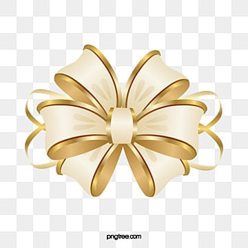 cartoon gold ribbon bow, Cartoon Clipart, Ribbon Clipart, Bow Clipart PNG and PSD illustration image
