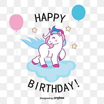 lovely pegasus birthday card, Birthday Clipart, Vector Png, Color Balloon PNG and Vector