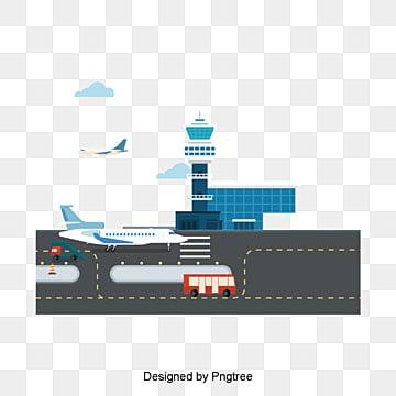 المطار متجه, يد, طائرة بيضاء, منارة PNG و فيكتور