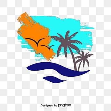 Palm Beach vector, Mano, Acuarela, Cocotero PNG y Vector