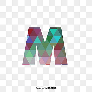 Blue Green And Purple Spell Letters M Violet PNG