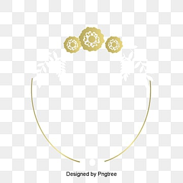 Gold Border Vector Png Wedding Invitation Card Golden Lines PNG And