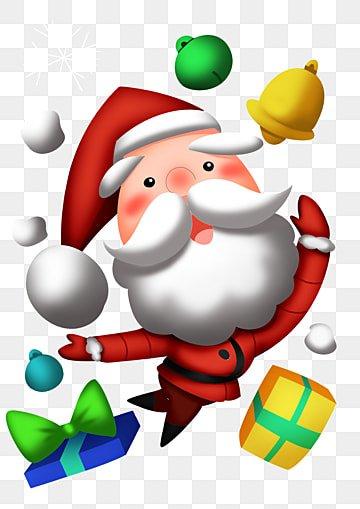 Santa bells, Christmas, Santa Claus, Snow PNG and PSD