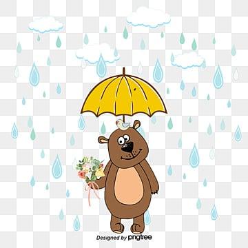 抱著花的動物, 棕色, 棕色動物, 棕色熊 PNG圖片素材和向量圖