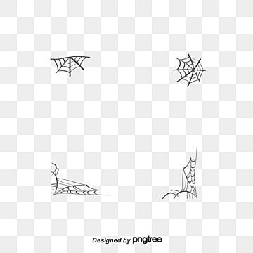 Halloween cobwebs, Vector Png, Spider Web, Hand-painted Spider Web PNG and Vector