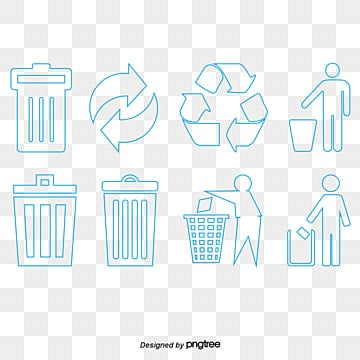 Throw Rubbish In The Bin Dustbin Protect Environment Drop Litter PNG And